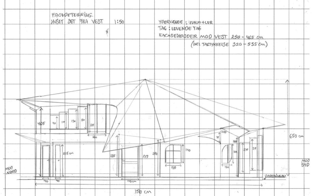 Tekniske tegninger af huset
